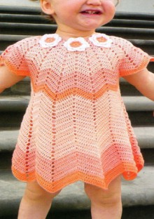 crochet summer hat and dress for baby
