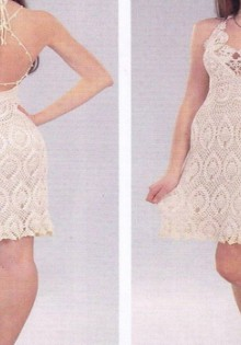 crochet white dress for ladies