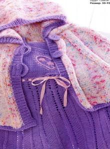 knitting baby jacket and dress