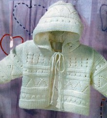 knitting baby jacket