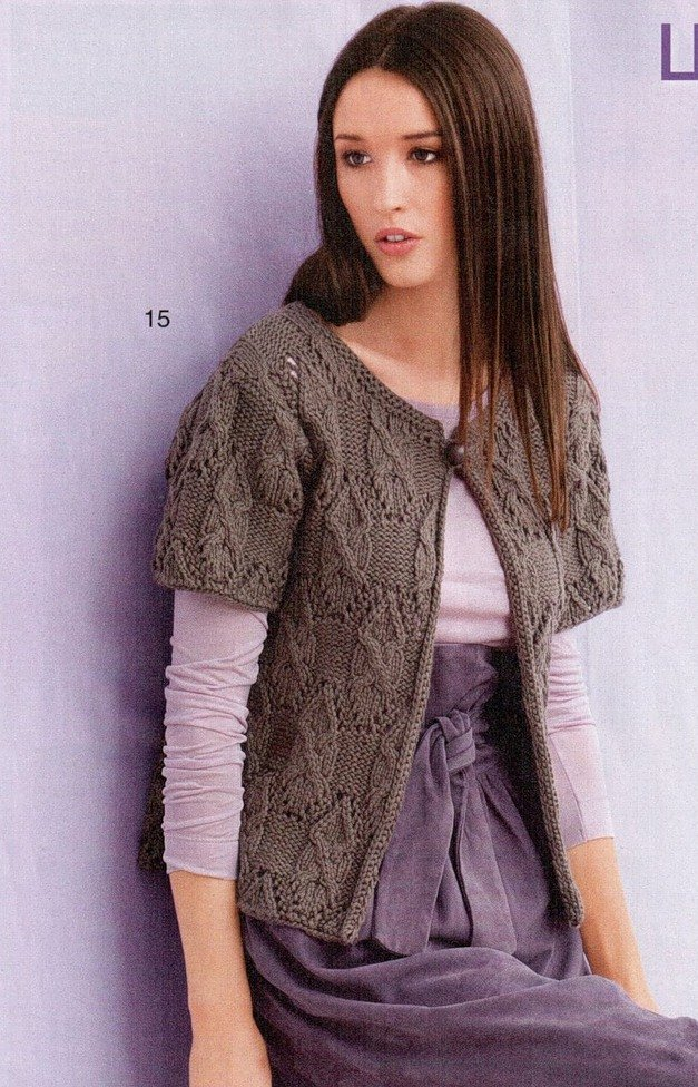 Knitting Pattern For Ladies Cable Cardigan : knitting beauty cable cardigan for ladies, knitting pattern make handmade, ...