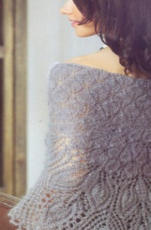 knitting charming lace shawl for ladies