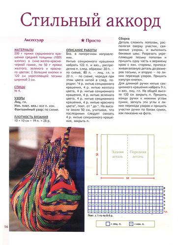 Вязание детских сумочек схемы спицами