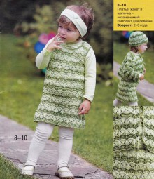 knitting cute baby dress