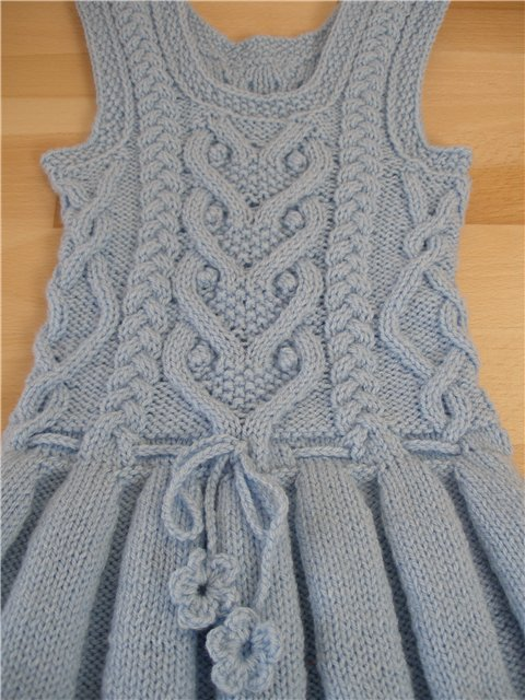 Knitting Pattern Cable Dress : knitting cute cable dress for kids make handmade ...