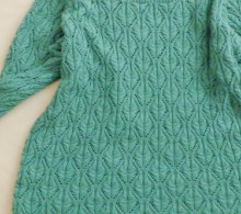 knitting cute cable pullover for ladies