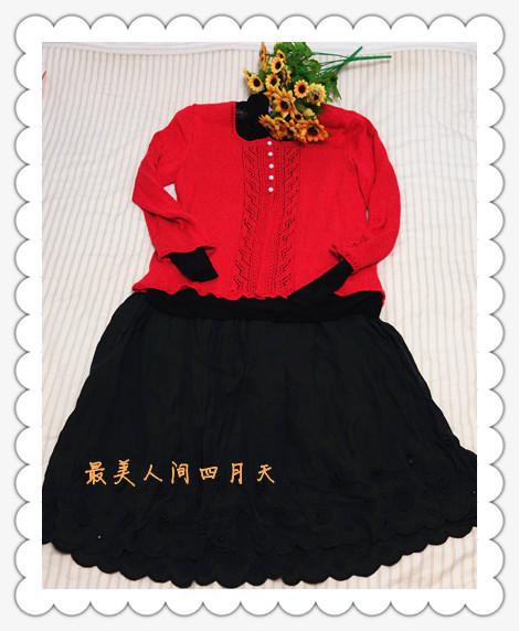 [四月天]红色小披----也仿黑妞1307 - 最美人间四月天 - 最美人间四月天