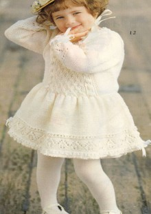 knitting spring dress for baby girl