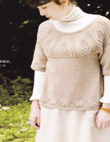 knitting tulips border for sweater