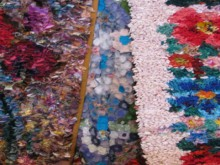 recycling clothes: making flower rug