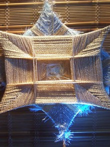 weaving christmas and new year star
