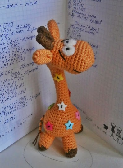 长颈鹿毛线布偶编织教程图解
