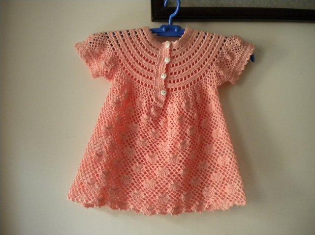 baby dress with round yoke make handmade, crochet, craft