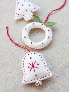 christmas gifts: felt holiday ornaments + free ornament templates