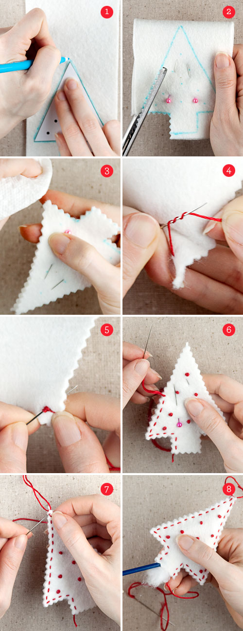 Templates For Homemade Christmas Decorations : Christmas gifts felt holiday ornaments free ornament