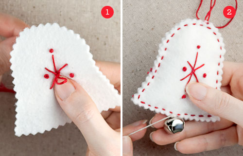 Christmas gifts felt holiday ornaments free ornament templates