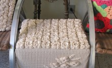 crochet 3d rose rug, bag and cover…