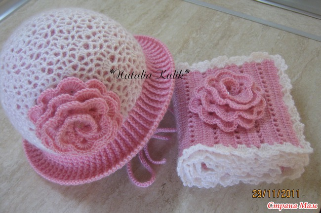 Crochet Pattern For Baby Hat And Scarf : crochet baby hat and scarf make handmade, crochet, craft