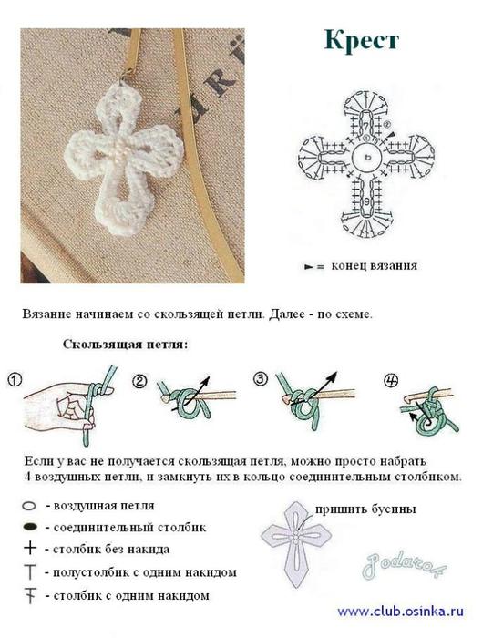 Крестильная рубашка схема вязания