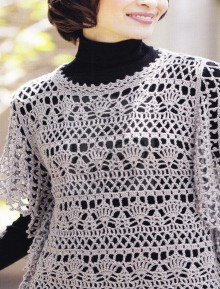 crochet beauty cape for ladies