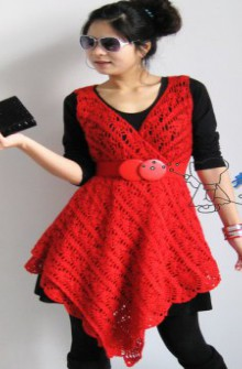 crochet beauty dress in a scarf shape