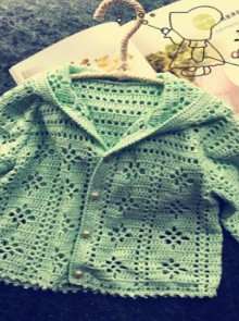 crochet boy baby jacket, crochet pattern