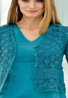 crochet charming cardigan white flowers stitch