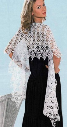 crochet charming lace scarf for ladies, crochet pattern
