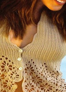 crochet charming top for beach