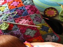 crochet colorful blanket for baby (part 1)
