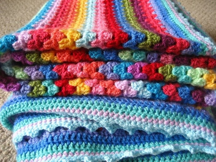 crochet colorful blanket for baby (part 1) make handmade, crochet ...