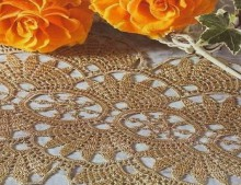 crochet so cute doily with flower pattern