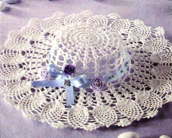 crochet cute lace summer hats, crochet patterns make handmade ...