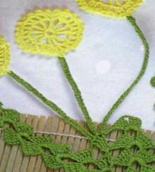 crochet dandelions