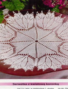 crochet fall leaves doily