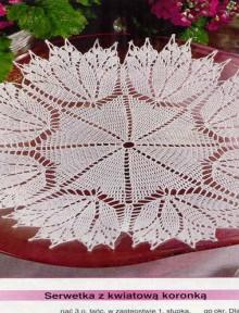 crochet fall leaves doily