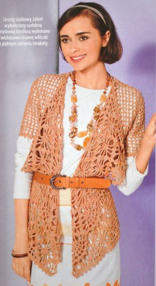 crochet fashion cardigan