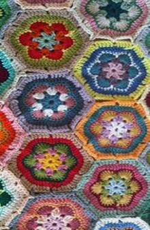 crochet flowers motif