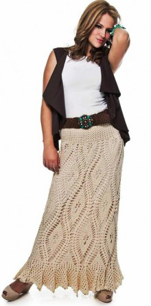 crochet long skirt for ladies