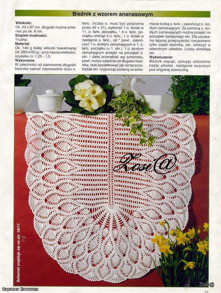 Crochet Oval Pineapple Doily Crochet Pattern Make Handmade