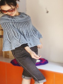crochet poncho and skirt 2 in 1