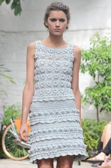 crochet spring and summer ladies dress