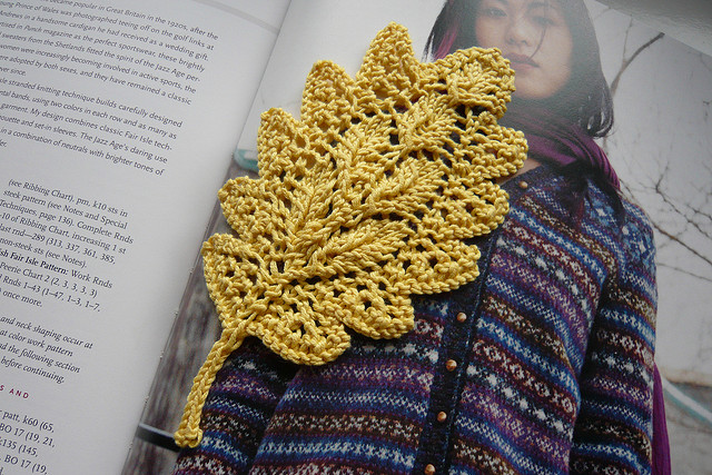 Knitting Pattern Oak Leaf : knitting beauty oak leaf bookmark make handmade, crochet, craft