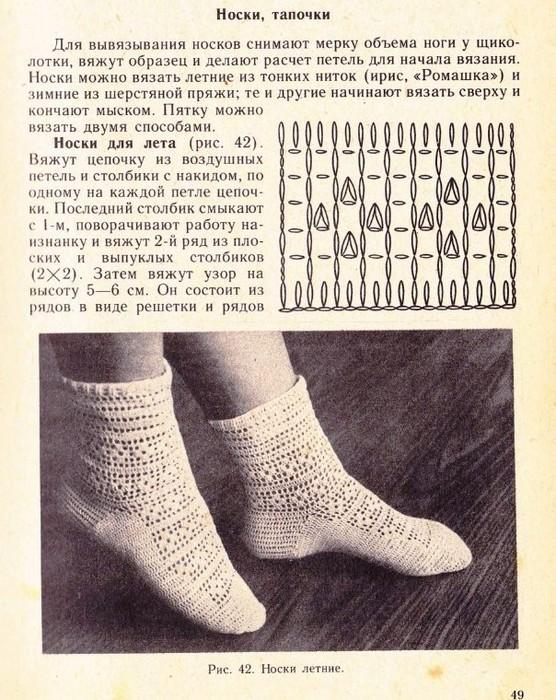 Ажурные носки со схемой и описанием