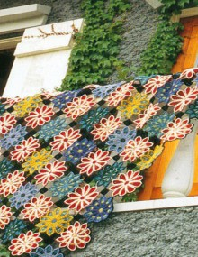 spring garden afghan, crochet patterns
