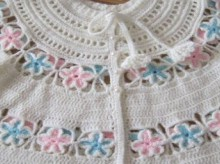 crochet beauty flower baby jacket