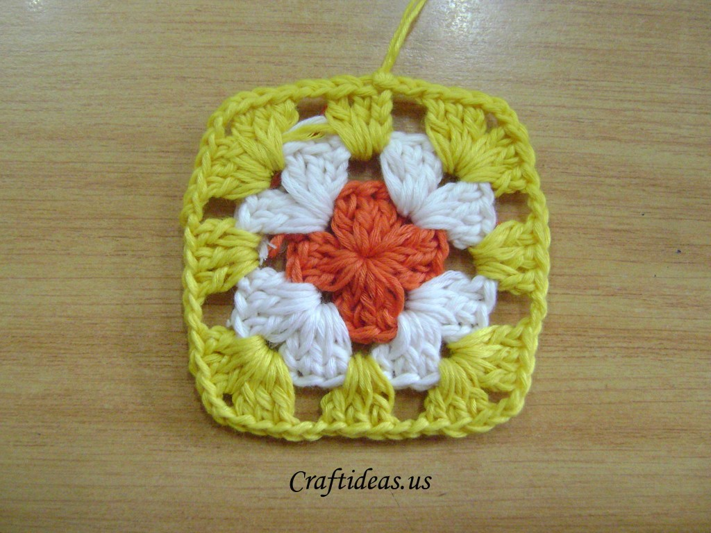 Crochet grany square tutorial