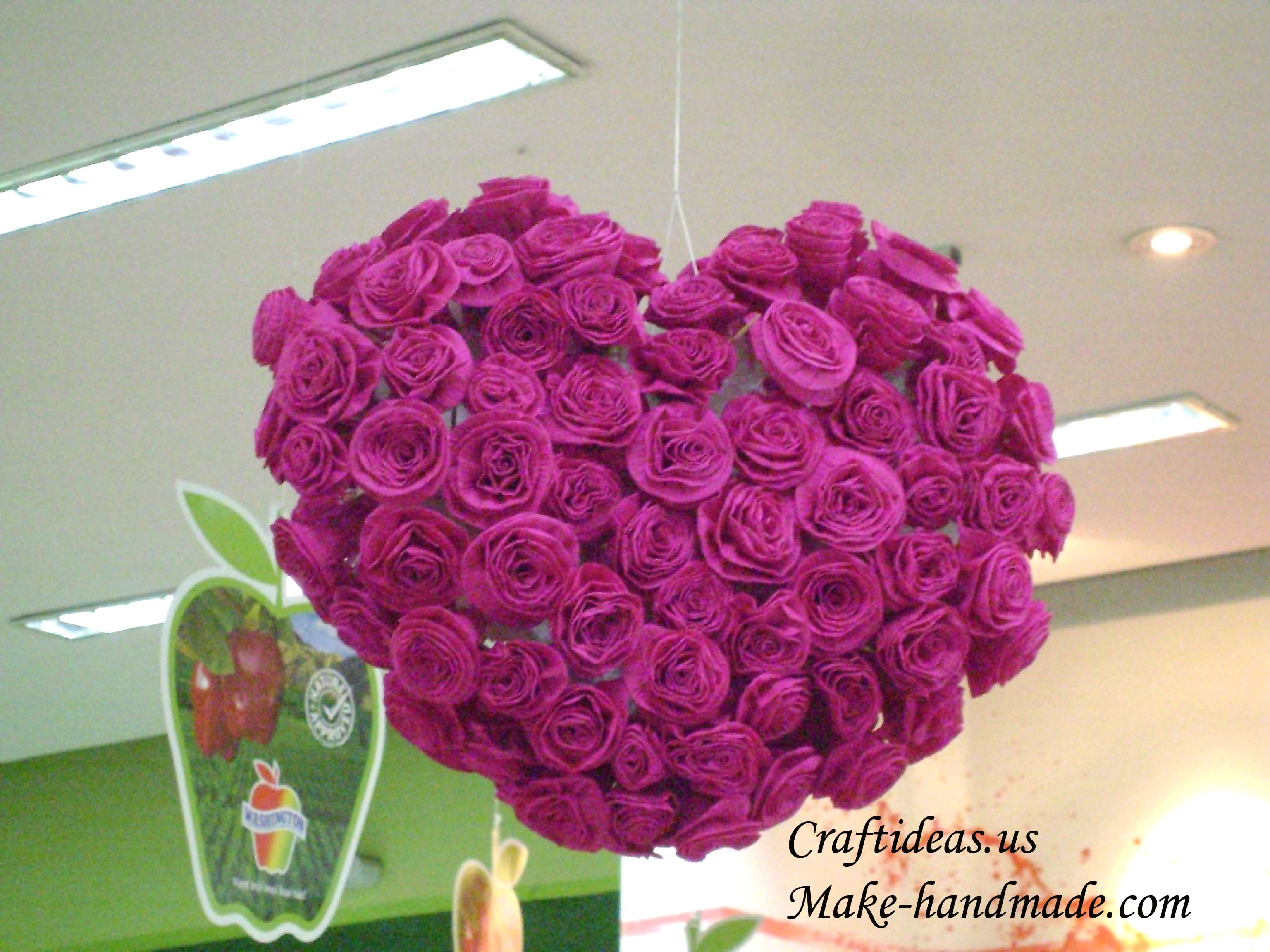 Making Paper Rose For Heart Gifts Make Handmade Crochet Craft