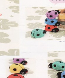 amirugumi: crochet ladybug and turtle