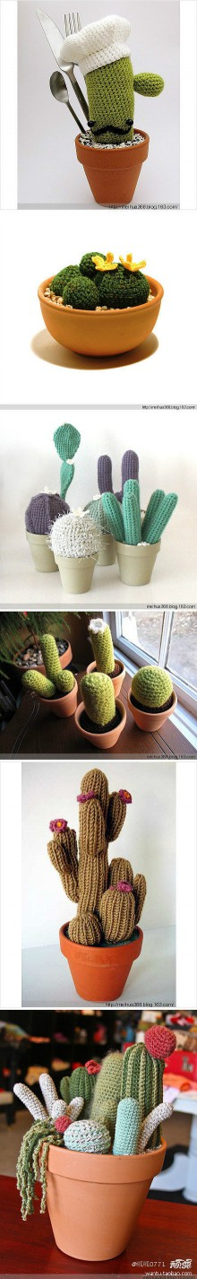 crochet art: crochet mini cactus